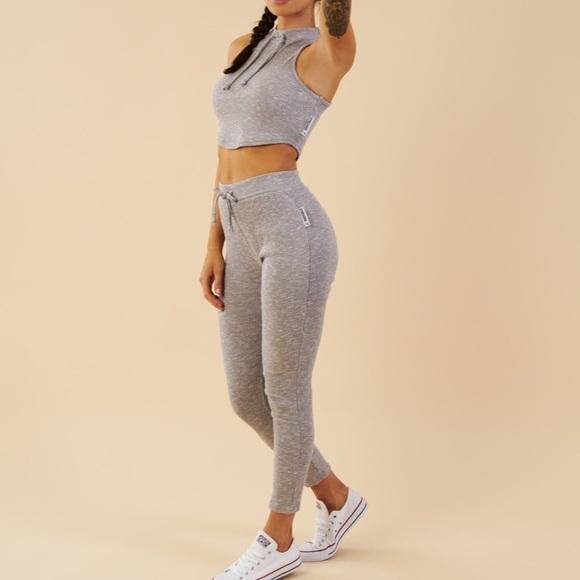 076878f7444d44 Gymshark Pants | Slounge Leggings Light Grey Marl Size Xs | Poshmark